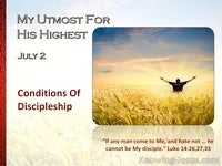 Conditions Of Discipleship